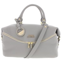 Versace Collection Womens Leather Pebbled Satchel Handbag