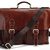 Father's Day Gift / Men's leather briefcase/leather handbag/leather Messenger bag/crossbody bag/laptop bag/leather travel bag
