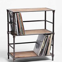 Vinyl Storage Shelf- Light Brown One