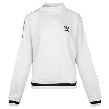 Adidas Originals Women Fashion Top Pullover Sweater Sweatshirt