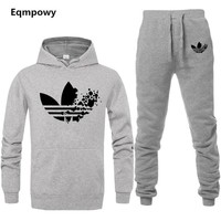 New Brand Tracksuit Fashion Men/Women Sportswear Two Piece Sets