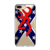 BROWNING REBEL FLAG iPhone and Samsung Galaxy Clear Case
