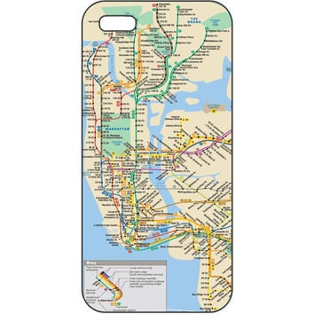 New York City iPhone Case (Subway Map of NYC) - specify iPhone 4, 4S, or 5 when ordering