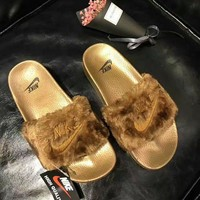 Nike Women Lover Fur Slipper Shoes 4 colors H 8-17-1
