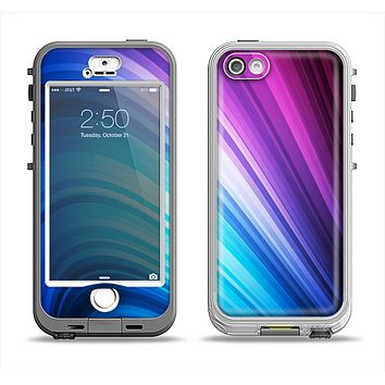 The Pink and Blue Glowing Neon Wave Apple iPhone 5-5s LifeProof Nuud Case Skin Set