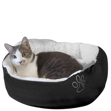 Evelots Cat/Small Dog Most Comfy Pet Bed-Warm/Cozy-Easy Washing-Assorted Colors