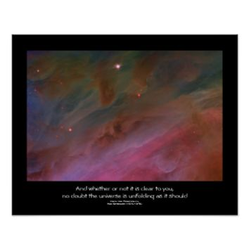 Desiderata quote - Pillars of Dust, Orion Nebula Print