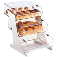 15Wx24Dx24.25H 3 Tier Rounded Display Stainless