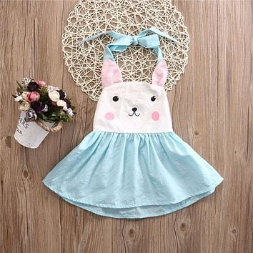 Toddler Kids Baby Girls Bunny Dress Princess Party Pageant Holiday Dresses