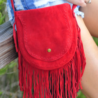 Indian Outlaw Fringe Purse: Brick Red | Hope's
