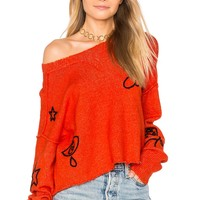 Wildfox Couture Alchemy Icons Sweater in Inferno Red | REVOLVE