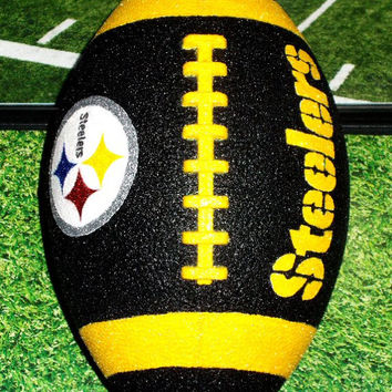 NFL Sport Pittsburgh Steelers Glitter Football Decor - More TEAMS AVAILABLE