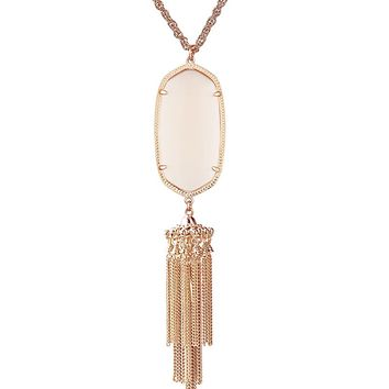 Rayne Rose Gold Necklace in Peach - Kendra Scott Jewelry