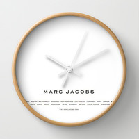 Marc Jacobs Wall Clock by Courtney Burns