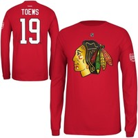 Reebok Jonathan Toews Chicago Blackhawks 2014 Stadium Series Long Sleeve Player Shirt - Red