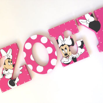 Superior Personalized Minnie Mouse Wooden Wall Letters For Nurseries And Kids Rooms