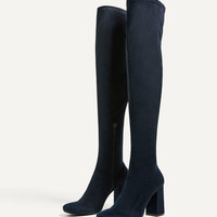 STRETCH LEG HIGH HEEL BOOTS