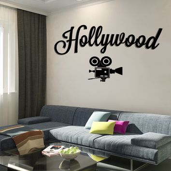 Wall Vinyl Decal Hollywood Camera Movie Making Decor Unique Gift z3758