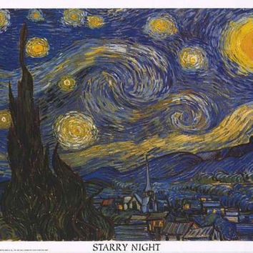 Van Gogh Starry Night Poster 24x36