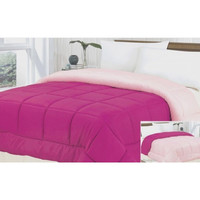 Down Alternative Reversible Rose/Pink Comforter in Full/Queen