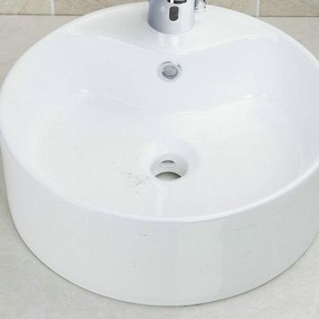 Modern Style Handmade Countertop Basin Sink TD3030 Ceramic Washbasin Bowl Bathroom  Sink Vessel with Pop up Drain