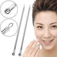 2Pcs Blackhead Pimples Acne Blemish Comedone Needle Extractor Remover Tool