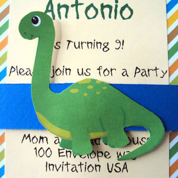 Children's Birthday Invitation , Boys Birthday Invitation , Dinosaur Birthday Invitation , Dinosaur Birthday Theme