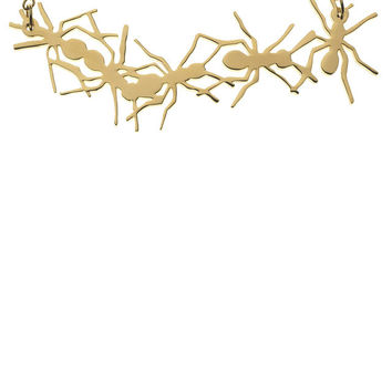 Gold Plated Lady Muck Ant Necklace