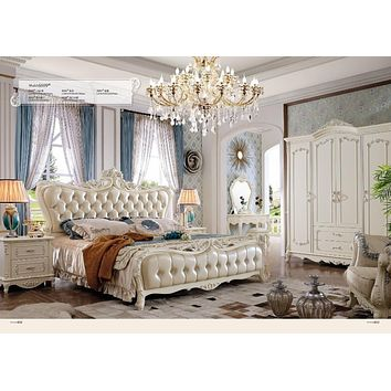 Full Bedroom Set And Living Room Leather Furniture Set