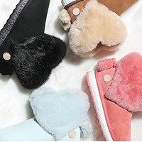 UGG Short Boots Fashion Flats Fur Shoes