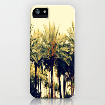 South Beach iPhone Case - cell phone accessory cover original photography florida sobe miami clear skies palm trees foliage