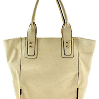 Large Beige Tote from shopoceansoul