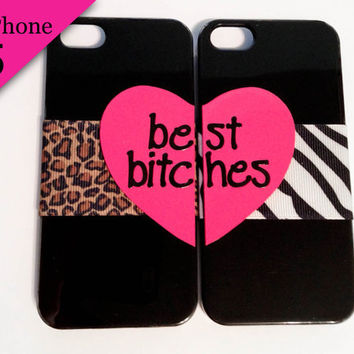 Best Bitches iPhone 5 cases - Cheetah & Zebra