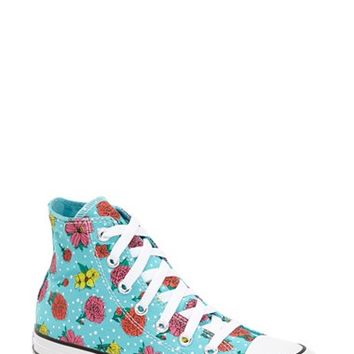 Women's Converse Chuck Taylor All Star Floral Polka Dot High Top Sneaker,