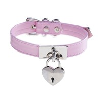 Generic Punk Handmade Harajuku Heart Lock Choker Necklace