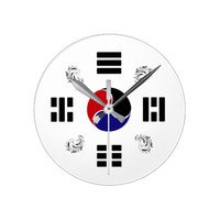 Taegeuk, Taiji, the Great Ultimate, the yin-yang T Round Clock