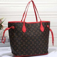 LV Fashion Trending Women Shopping Leather Tote Handbag Shoulder Bag Brown Tartan G