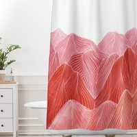 Viviana Gonzalez Lines in the mountains IX Shower Curtain And Mat | Deny Designs