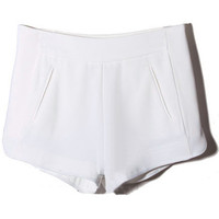 ROMWE | White Vent Hem Shorts, The Latest Street Fashion