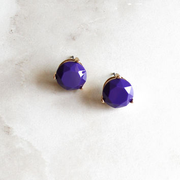 Circle Earrings in Purple
