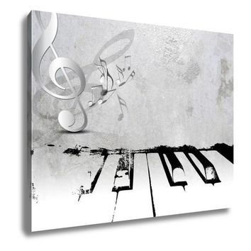 Gallery Wrapped Canvas, Grunge Music Piano Sheet Music