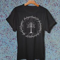 lord of the rings shirt tshirt lord of the rings white tree of gondors shirt t-shirt Unisex size shirt for men and women clothing 3 colors