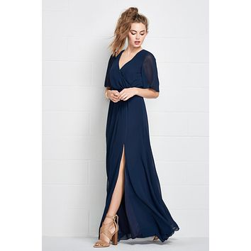 Wtoo 508 Floor Length Chic Chiffon Bridesmaid Dress