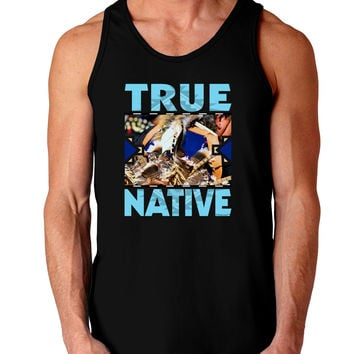 True Native American Dark Loose Tank Top