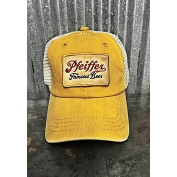 Pfeiffer beer vintage patch  Mesh Trucker Cap Angry Minnow Vintage
