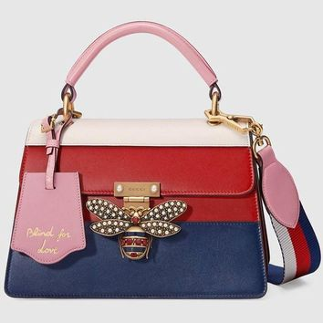 Gucci Women's Queen Margaret Series Leather Handbag