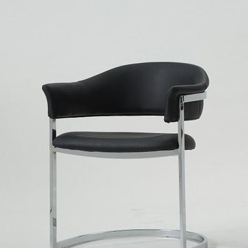 Modrest B859A Contemporary Black Leatherette Dining Chair