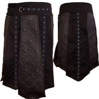 Romany Mens Kilt Canvas - Mens gothic industrial kilts