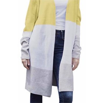 Lauren Colorblocked Duster Cardigan