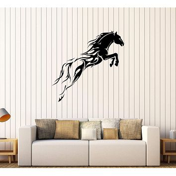 Vinyl Wall Decal Horse Mustang Horserace Garage Decor Stickers Unique Gift (308ig)